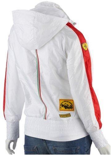 Puma Ferrari à capuche Formule 1 Sport Veste Blanc / Rouge Femmes UK12