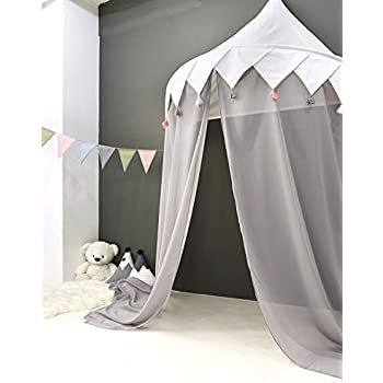 HAN-MM Hanging Bed Canopy Princess Play Tent Round Hoop Netting Mosquito Net Bedroom Décor  sc 1 st  Amazon.com & Amazon.com: HAN-MM Hanging Bed Canopy Princess Play Tent Round ...