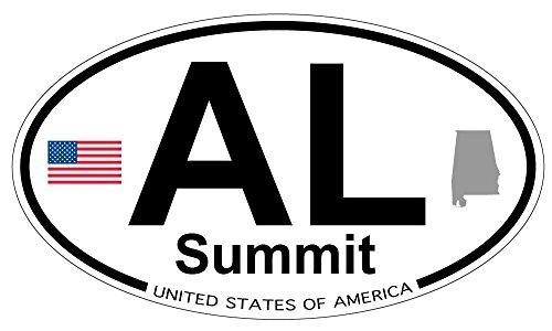 Summit, Alabama Oval Sticker - Summit The Alabama