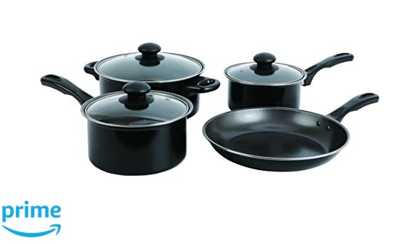 Amazon.com: Wees Beyond 7 Piece Non-Stick Cookware Set, Black: Kitchen & Dining
