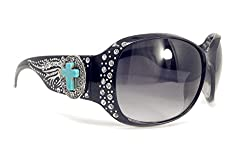 Sunglasses With Rhinestone in Multi Concho
