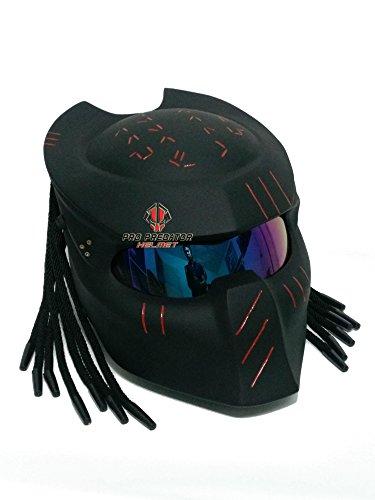 - SY15 Custom Predator Motorcycle DOT/ECE Approved Helmet Matt Black (XL)