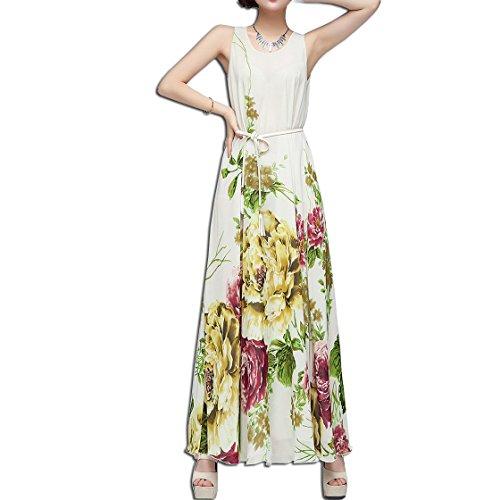 KAXIDY Femmes Longue Robe de Soirée Mousseline de Soie des Robes