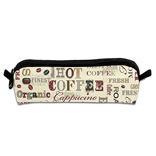 Coffee Kitchen Recipes Zippered Pen Bag Cosmetic Makeup Bags for Colored Watercolor Pencils ()