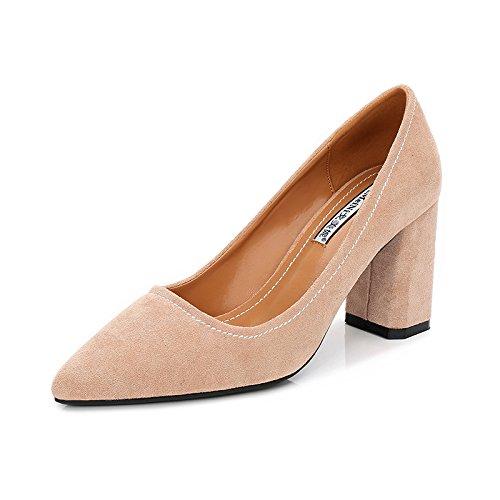 GAOLIM El Alto Talón Zapatos De Mujer Primavera Y Verano Nuevos Zapatos De Mujer Tacones Punta Carrera Negro Zapatos De Mujer Con Un Firme Y Valiente A La Luz Del Alto Talón Zapatos De Tacón Alto (6-8 Y Color