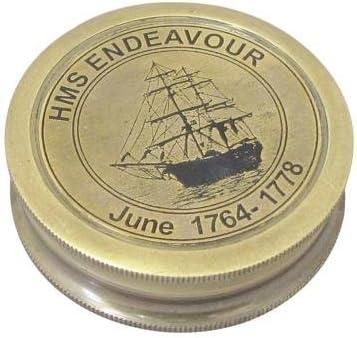 Aspecto Antiguo Stanley de Londres Br/újula Marina HMS Endeavour Enviar N/áuticos de lat/ón