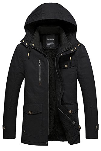 Pile S Puffer Di xxl Giacca Incappucciato Jacket Nero Foderato Down Piumino Uomo Menschwear 0vfxHH