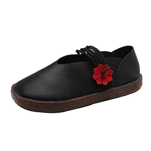 New Special Prada Shoes - UOKNICE Women Round Toe Flat Slip-on Casual Comfortable Loafer Shoes Ethnic Style Shoes(Black, CN 36(US 5.5))