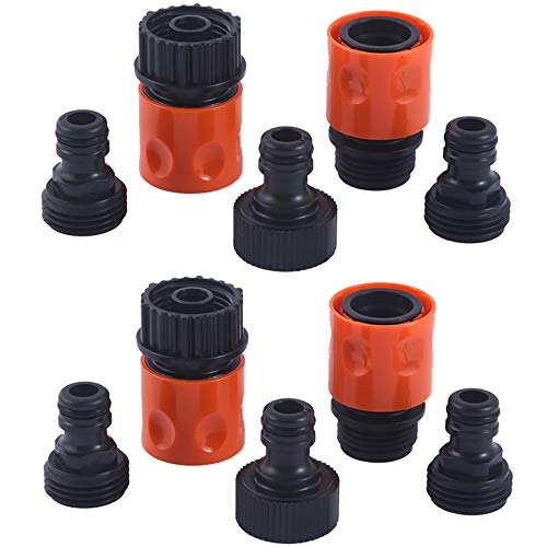 - HQMPC Plastic Garden Hose Connector Garden Quick Connectors 2sets(10PCS CONNECTORS)