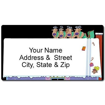 amazon com funny christmas address label santa slide customized