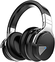 COWIN E7 Active Noise Cancelling Headphones Bluetooth Headphones with Microphone Deep Bass Wireless Headphones Over Ear, Com