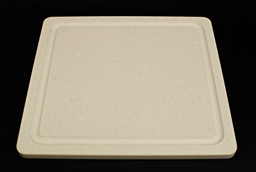 Royal Corgi Corian Solid Surface Cutting Board – Perfect for Vegetable, Fruit, Meat or Cheese – Juice Groove – Sanitary – Stain and Scratch Resistant …