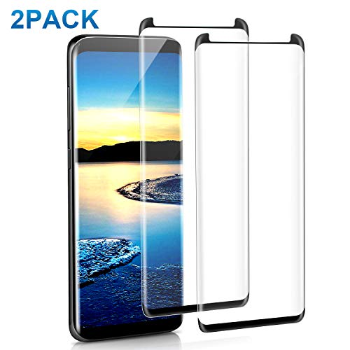 [2 PACK] Galaxy S9 Plus Screen Protector, iCattor Tempered Glass HD Clear 3D Curved Edge Screen Cover [Case Friendly] [Anti-Scratch] [Bubble Free] Samsung S9 Plus Screen Shield [S Pen Compatible]