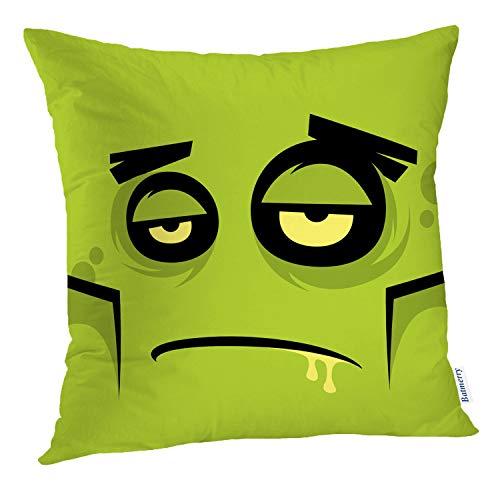 Batmerry Halloween Pillow Covers 18x18 inch,Cartoon Halloween Face