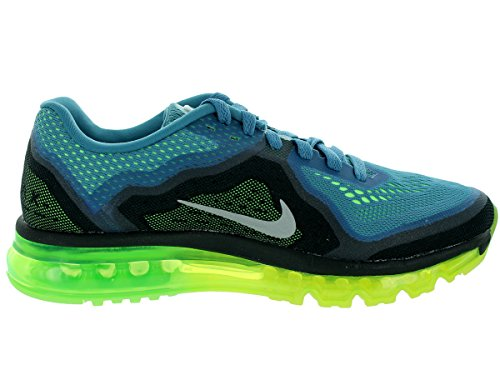Air Max 2014 Scarpa da corsa Deep Photo Blue/Electric Green