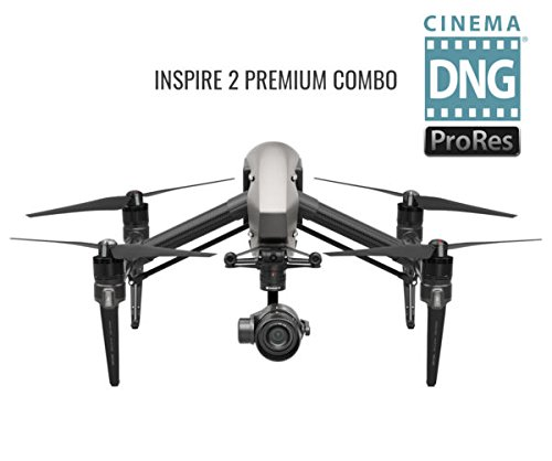 DJI Inspire 2.0 Quadcopter Combo, Includes Zenmuse X5S Camera Gimbal, Remote Controller, CinemaDNG by DJI