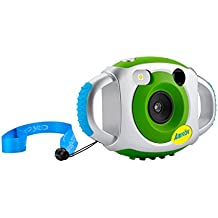 [Patrocinado] CameraFor Kids, AmkovKids Digital Camera, Creative Children Camera, 5Mp1.44 Inch TFT Display Video Recording Green (Without SD card)