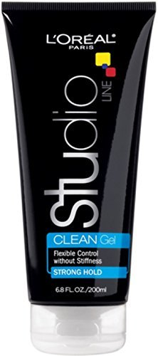 L'Oreal Studio Line Clear Minded Clean Gel, Strong Hold 6.80 oz (Pack of 4)