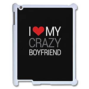 QWSPY MR RIGHT couple Love My Crazy Girlfriend Boyfriend Phone Case For IPad 2,3,4 [Pattern-4]