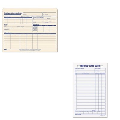 amazon com kittop3016top3280 value kit tops employee time card