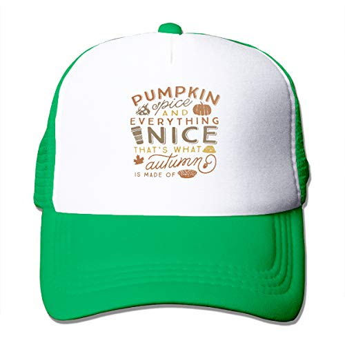 Jason Le Pumpkin Spice & Everything Nice Autumn Fall Unisex Solid Color CapSports Caps Adjustable