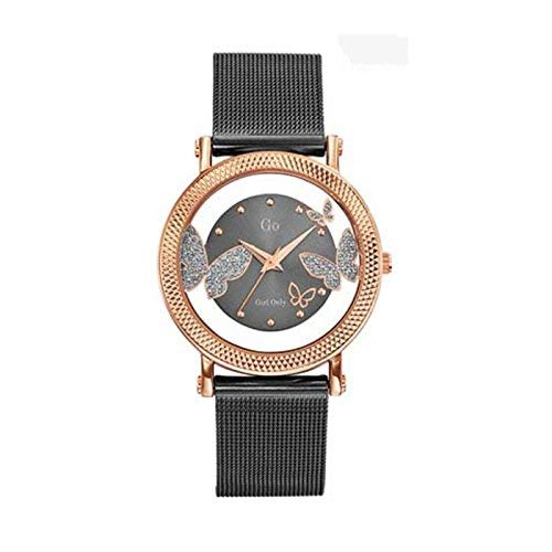 Go 695053 - Reloj de Pulsera Mujer, Metal, Color Gris: Amazon.es: Relojes