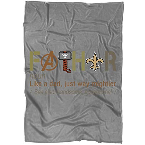 LEXIGSTORE New Orleans Saints Blanket for Bed and Couch, Father's Day Blankets - Perfect for Layering Any Bed (Medium Blanket (60