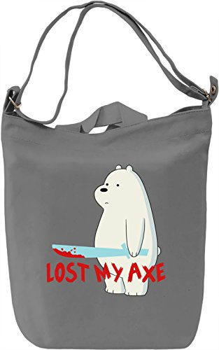 Ice Bear lost his axe Borsa Giornaliera Canvas Canvas Day Bag| 100% Premium Cotton Canvas| DTG Printing|