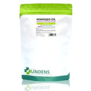 Lindens Hempseed Oil 1000mg Capsules | 1000 Pack | UK Manufacturer…..