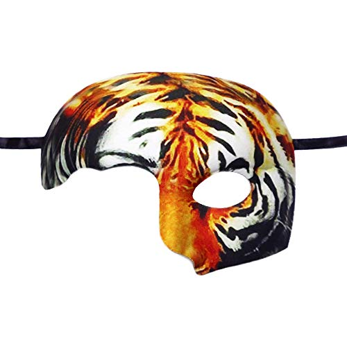 Lubber Tiger Animal Half Mask for Halloween Party Costume -