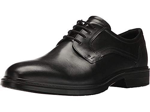 Derby Ecco - ECCO Men's Lisbon Plain Toe Tie Oxford, Black, 43 EU/9-9.5 M US