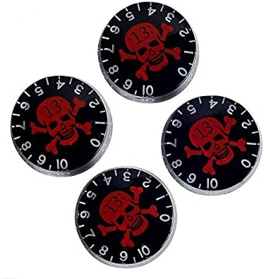 super music Lanpeed 3 Sets of 4pcs Speed Control Knobs with Skull for Gibson Les Paul Replacement Electric Guitar Parts
