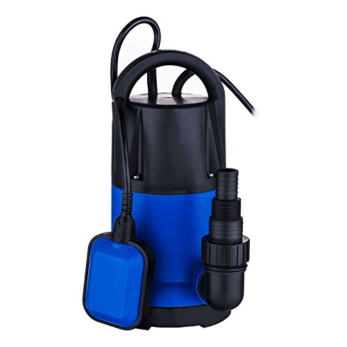 Meditool 1HP Clean Water Pump Submersible Sump Pump with Float Switch For Swimming Pool Pond Heavy Duty Submersible Water (Pond Float)