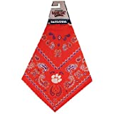 Equipo Deportivo Best Deals - NCAA Clemson Tigers Equipo Color Bandana