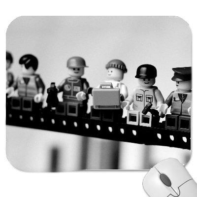 con finiture morbide e confortevoli Tappetino per mouse in gomma di qualit/à spessa stile Lego retro