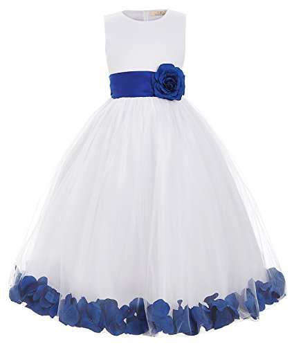 Satin Organza Party Ball Gown Tulle Wedding Dresses (11-12yrs) CL8936-2