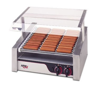Apw/Wyotts Hotrod Hot Dog Roller Grill with Chrome Roller, 120 Volt -- 1 each.