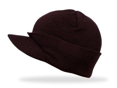 d7ed2dc30776b Alsino 'Bonnet avec visière chapeau d''hiver bouchon norvégien cache  oreilles beanie,