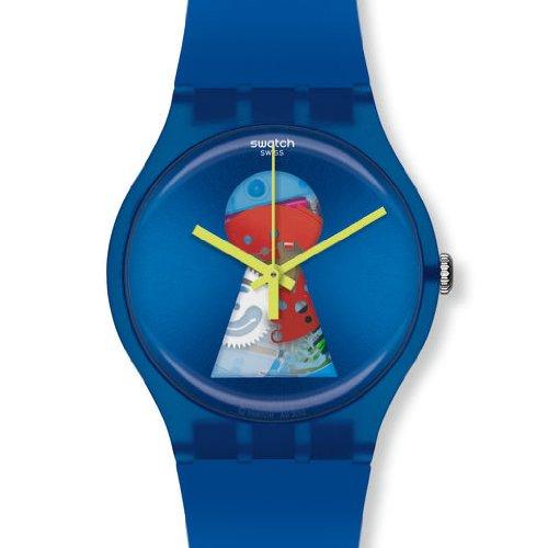 Swatch Joven Reloj de Pulsera Open it analógico de Cuarzo Caucho SUOZ157
