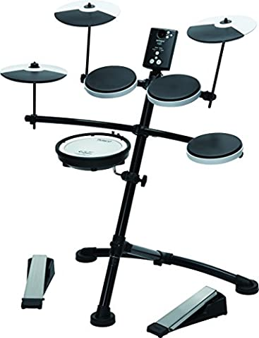 Roland TD1KV V-Drum Compact Electronic Drum Kit, Silent Kick, Mesh Snare Drum Head (Roland Electronic V Drums)