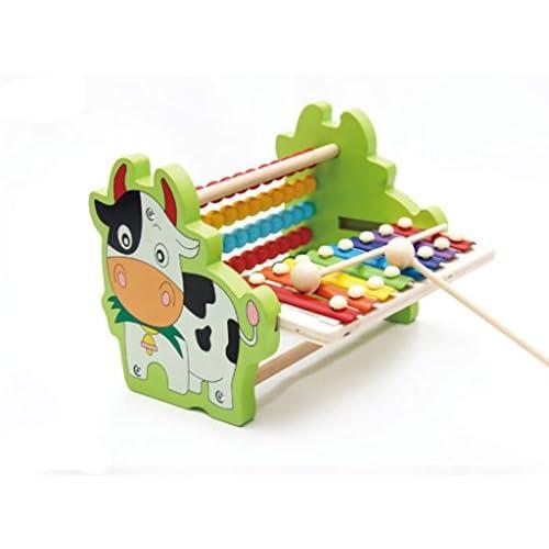 Dolity Jouet Musical Bois Xylophone Mignon Collection Jouet Décor Maison Cadeau pour Votre Enfant