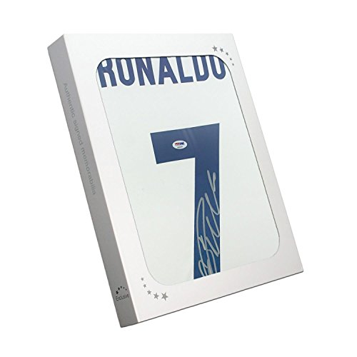 Cristiano Ronaldo Signed Real Madrid 2016-17 Home Soccer Jersey In Gift (Real Signed Autograph)