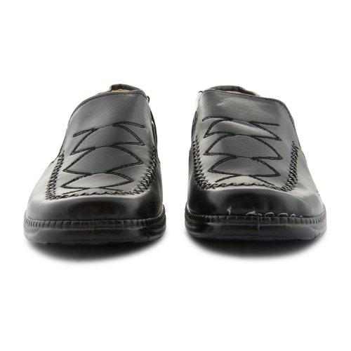 Footwear Sensation - Sandalias con cuña mujer Negro Patrón