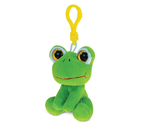 Puzzled Frog Soft Stuffed Plush Big-Eye Backpack Clip - Animals Theme - 6 INCH - Unique Gift and Useful Souvenir - Item #5853 ()