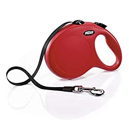 FLEXI Classic Retractable Dog Leash in Red, 26′