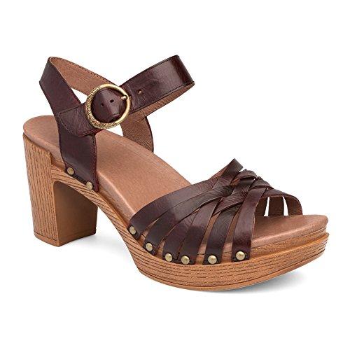 Dansko Women's Dawson Heeled Sandal, Ruby Vintage Pull Up, 37 EU/6.5-7 M US by Dansko