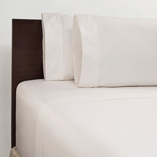 450 Thread Count King Sheet Set - White by Member's - Set 450 Thread