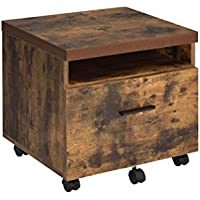 ComfortScape Legal Filling Cabinet on Wheels for Home Office, Weathered Oak