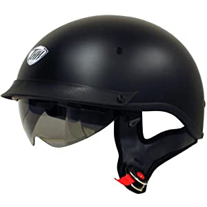 THH Helmets T-72 Motorcycle Helmet (Flat Black, X-Large) from THH Helmets