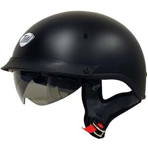 THH Helmets T-72 Motorcycle Helmet (Flat Black, Large)